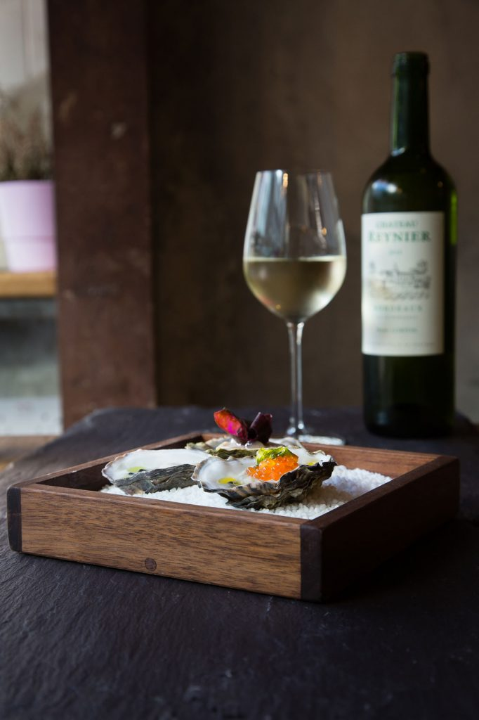 Oysters and natural wine