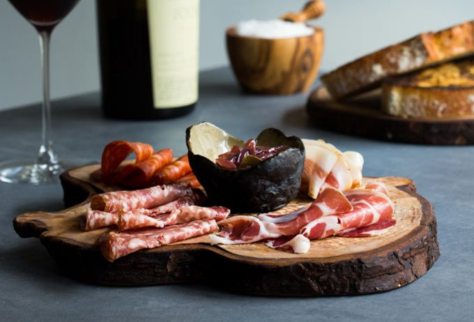 Irish charcuterie board, Natural Wine